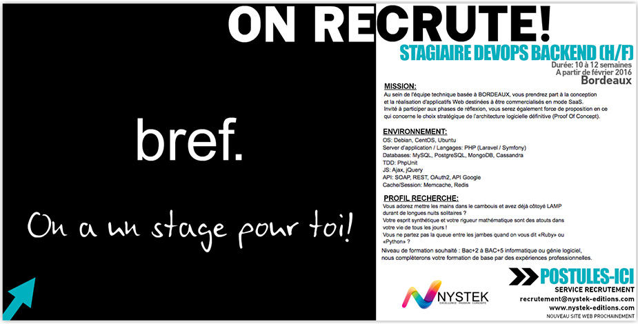 STAGIAIRE DEV WEB BACKEND