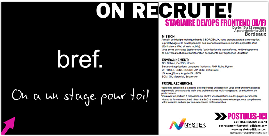 STAGIAIRE DEV WEB FRONTEND